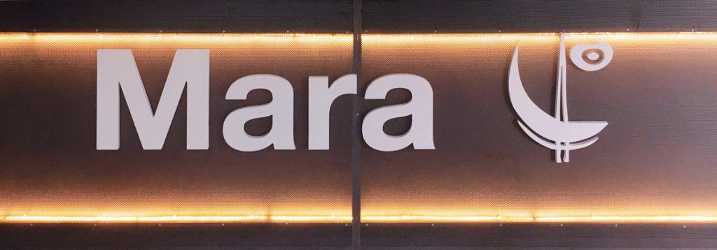 Logo corpóreo barra Mara