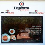 Rotulación exterior oficina Degenero
