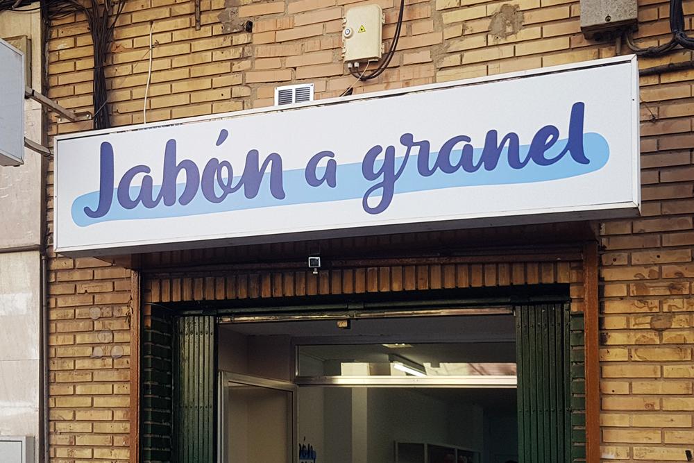 Vinilo impreso troquelado para Jabón a Granel
