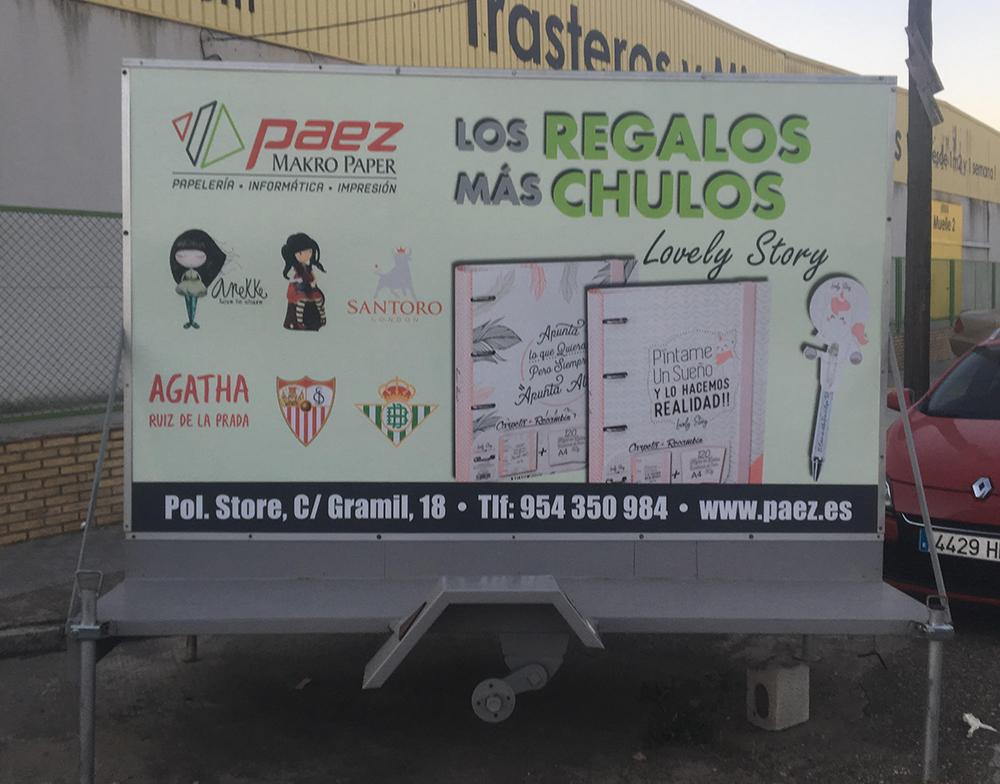 Rotulación y diseño de remolque para Páez
