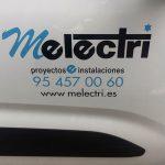 Rotulación de vehículo para Melectri