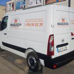 Rótulación de furgoneta para MC Maqueda