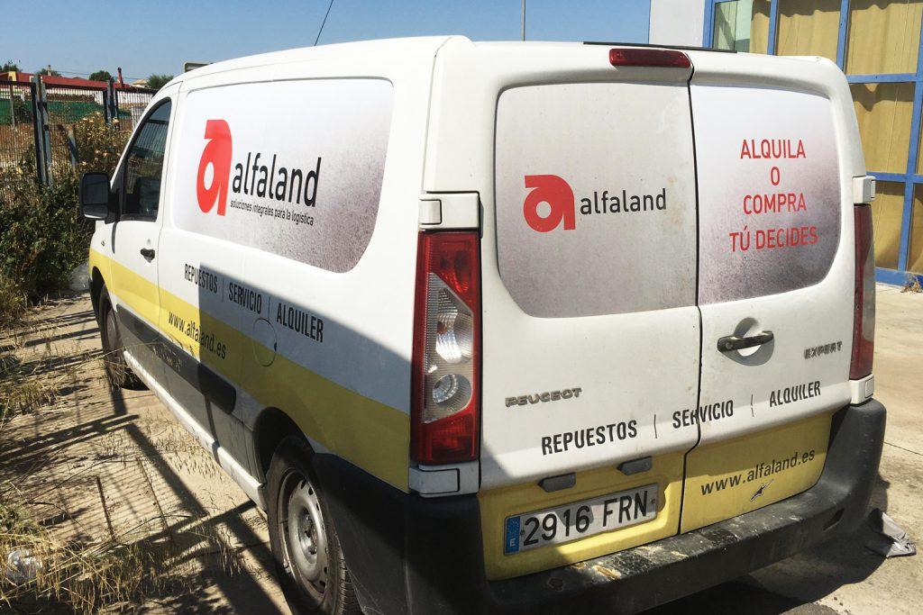 Rotulación de furgoneta Alfaland
