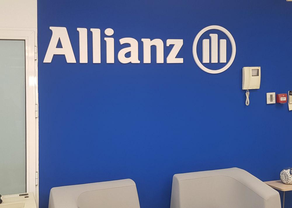 Logotipo corpóreo para Allianz
