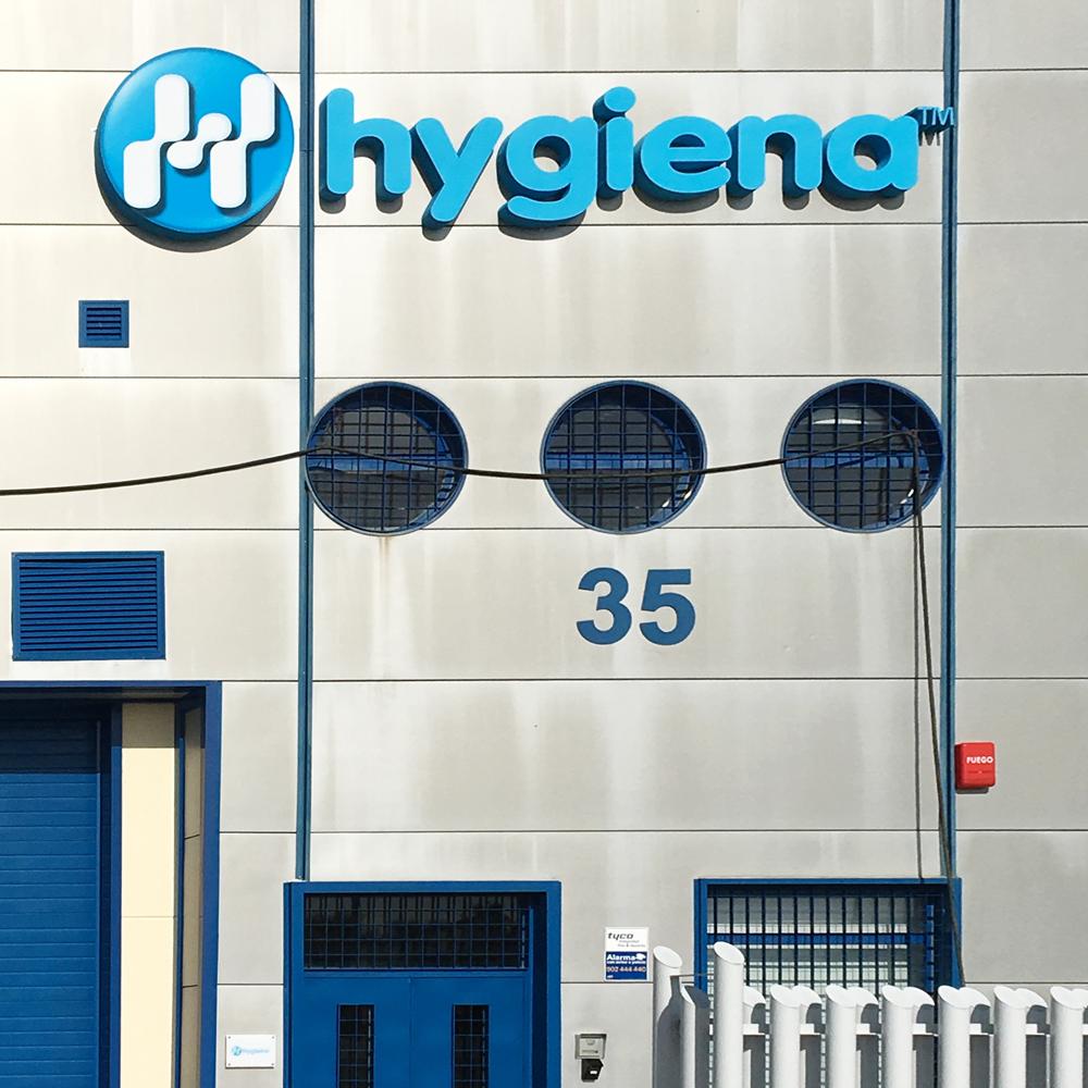 Rotulación exterior corporativa para Hygiena