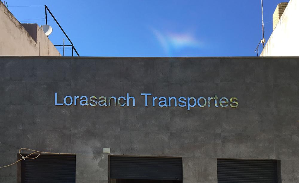 Letras corpóreas para Lorasanch Transportes