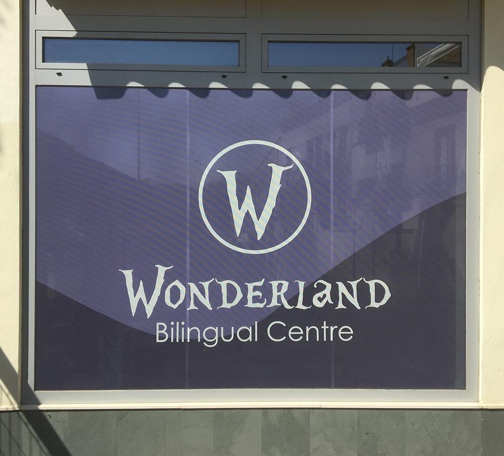 Rotulación corporativa para Wonderland