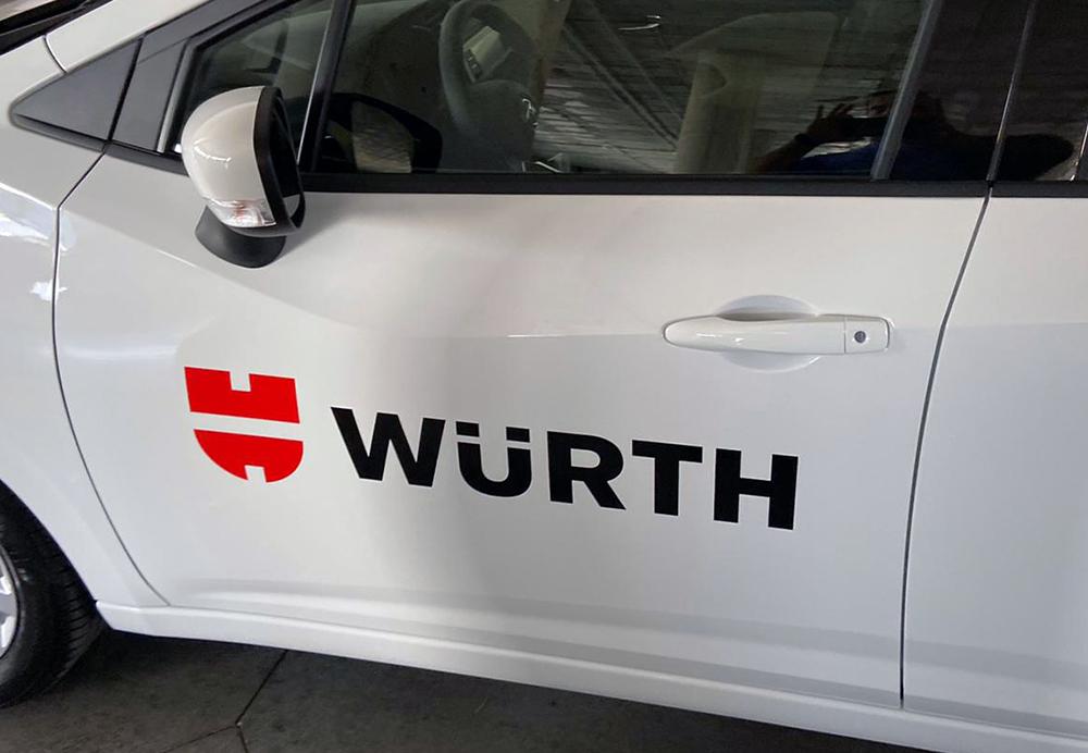 Rotulación de vehículo para Wurth