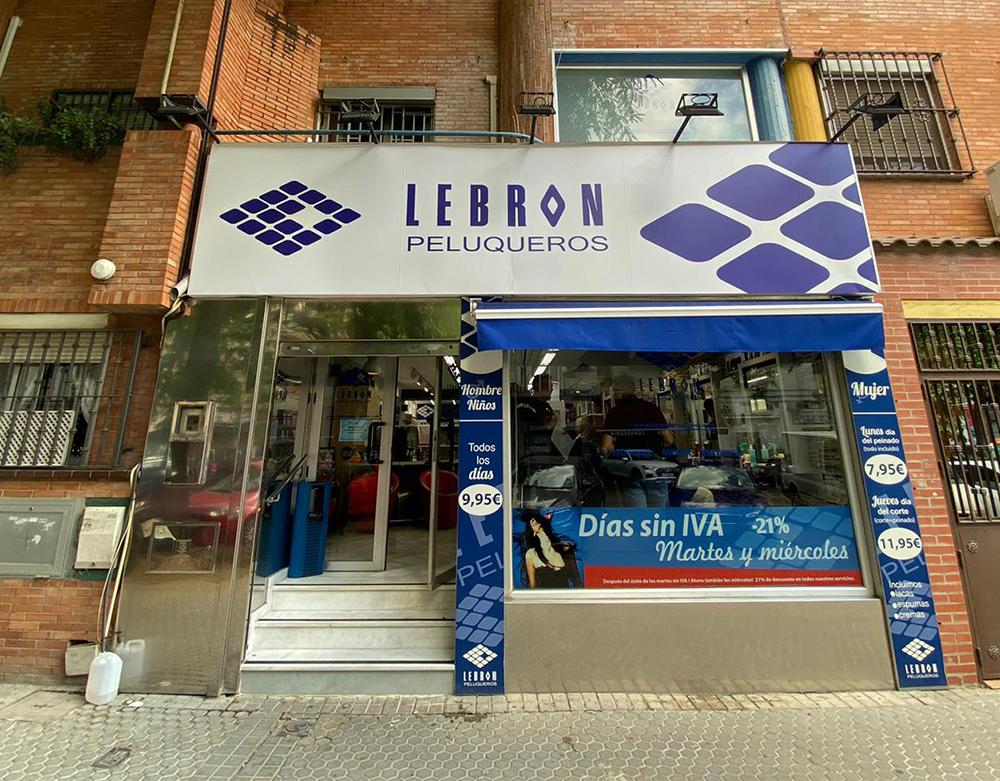 Vinilo corporativo para Lebron Peluqueros