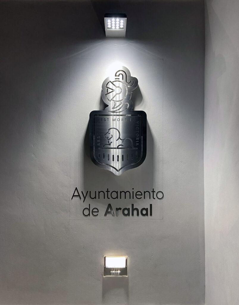 Rótulo corpóreo para Arahal - Parque de San Antonio