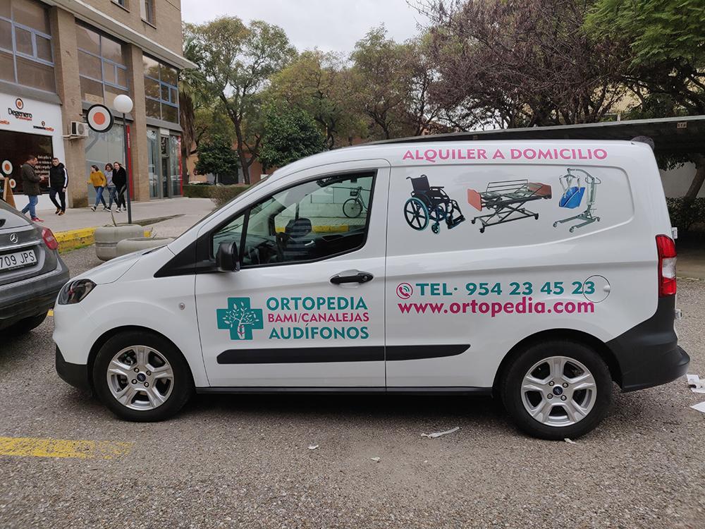 Rotulación de furgoneta para Ortopedia Bami/Canalejas